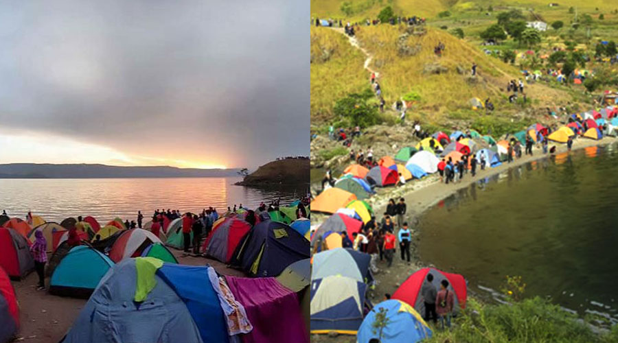 1000 tenda silahisabungan paropo danau toba