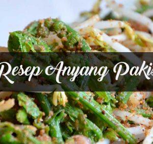 Anyang Pakis, Makanan Khas Sumatera Utara